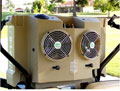 High efficiency mobile evaporative cooler